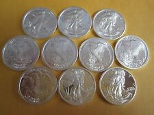 1/10 oz .999 Fine  Silver Bullion American Eagle Walking Liberty bullion round