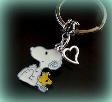 SNOOPY the Dog and WOODSTOCK the Bird w/ Heart KEYCHAIN Jewelry  Charlie Brown