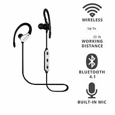 Sweatproof Sports Bluetooth Headset With Mic For Samsung Galaxy J5 J7 iPhone LG