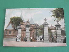 Entrance to Baxter Park from Arbroath Road UK Postcard
