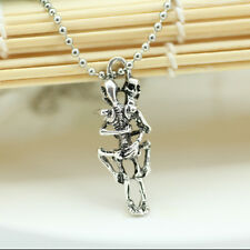 1Pc Unique Style Punk Necklace Gothic Skull Hug Lovers Pendant Necklace Jewelry