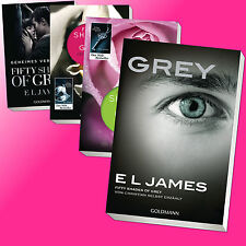Set: E L JAMES | SHADES OF GREY Band 1 + 2 + 3 + 4 (von CHRISTIAN erzählt)(Buch)