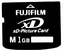 Genuine 1GB Fujifilm XD PICTURE CARD-Made in Japan by TOSHIBA-Olympus Fuji