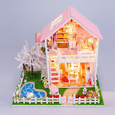 New Kit dream Wooden Dollhouse Miniature DIY Dolls House Idea Gift Sakura
