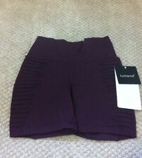 LULULEMON BREATH OF FIRE Short HOT BIKRAM YOGA  bordeaux drama NWT 2