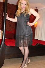 "RARE VTG LORRAINE 100% Nylon  USA Glossy Sheer Tall Tassels Nightie Slip 40"""