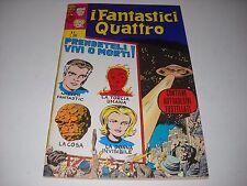 FANTASTICI QUATTRO NUMERO 4 CON ADESIVI  1971 CORNO MARVEL OTTIMO !!! GADGET