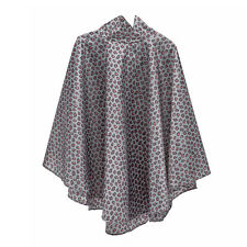 totes Fabric Poncho With Separate Pocket Big Coral Leopard