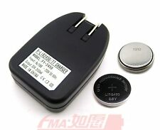 LIR2450 Li-ion Button Cell with BatteryCharger for LIR2430 LIR2477 4.2V 50mA US