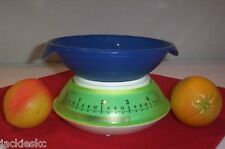 Tupperware RARE Healthy Basics Kitchen scales ~BLUE Prep Essentials bowl Cover