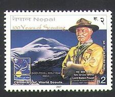 Nepal 2007 Scouts 100th/Baden Powell/Mountain/Youth/Leisure 1v (n34498)