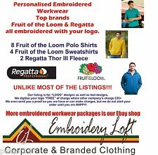 Fruit of the Loom EMBROIDERED POLO SHIRT WORKWEAR B  Include Digitizin your Logo