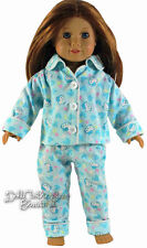 "Blue Hello Kitty Pajamas made for 18"" American Girl Doll Clothes Adorable"
