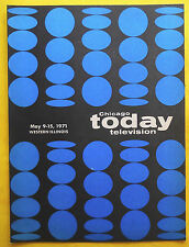 CHICAGO TODAY TELEVISION TV guide May 9 - 15 1971 Western Illinois Edition