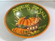 Fall Harvest PUMKINS FOR SALE Wooden Decorative Bowl