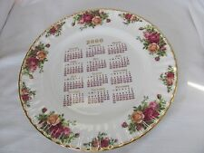 Royal Albert Old Country Roses signed 2000 Calendar dinner Plate Michael Doulton