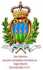 San Marino - 1999 - Annata completa nuova MNH - montata su fogli Marini