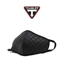 Unisex Mens Womens Teamlife Quilting Warm Mouth Anti-Dust Flu Face Mask Black