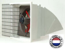 "EXHAUST FAN Commercial - Incl Hood, Screen & Shutters - 16"" - 3 Spd - 2312 CFM 3"