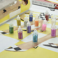 Pro Mini Bottle Glitter Nail Art Powder Tips Manicure Decoration 12Colors Hot