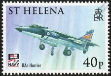 Royal Navy BAe SEA HARRIER Jump Jet Aircraft Stamp (2009 St Helena)