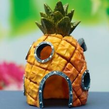 14cm Aquarium Spongebob Squarepants Pineapple House Fish Tank Ornament Home EDX