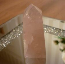 Fire and Ice Rose Quartz Obelisk 54 grams A Grade 5.5 cms