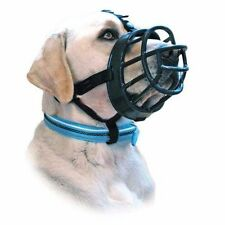 Baskerville Ultra Adjustable Padded Dog Muzzles Black Plastic Basket size 3