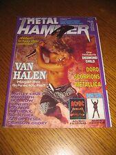 Metal Hammer-nº 8/1991 Van Halen Doro Scorpions Metallica sepultura Mötley Crüe