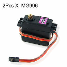 2 pcs MG996R Metal Gear Digital Torque Servo MG995 for Futaba JR 2C RC Truck Car