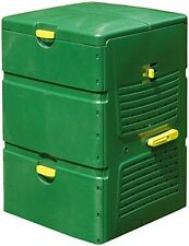 Exaco Aeroplus 6000 3-Stage 140 Gallon Compost Bin, Green, Recycled Plastic NEW