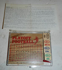 NFL Playoff Football Classic Wood Peg Dice Pocket Sports Game