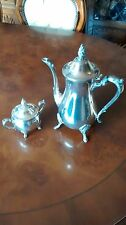 Silverplate Coffee Pot and Sugar Bowl