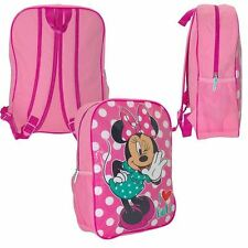 DISNEY MINNIE MOUSE Love Dots Backpack School Pink Girl PE Lunch Swim Travel Bag