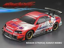 1/10 Nissan GTR(R34) Xanavi Nismo 195mm RC Car Transparent Body