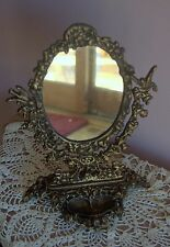 Mirror Cast Iron Vanity, Dresser Jewelry Tray, Swing  Mirror Vintage 1989