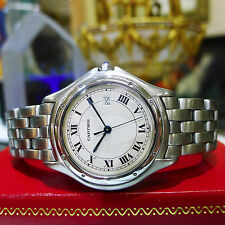 Ladies CARTIER PANTHER COUGAR 32mm Steel Roman Numeral Watch Ref: 987904