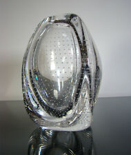 FLORIS MEYDAM Air Bubble Trangular ART Glass Vase f. Royal Leerdam NL 1960s