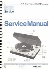 PHILIPS SERVICE MANUAL per 22 ga 312
