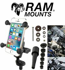 RAM Fork Stem X-Grip Samsung Apple Phone Mount Kit System Honda Cell Mobile Set