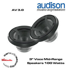 "Audison AV 3.0 - 3"" Voce Component Mid-Range Speakers 200 Watts Total Power"