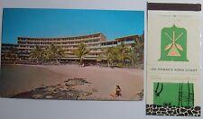 1970'S POSTCARD AND MATCHBOOK COMBO HOTEL KING KAMEHAMEHA KONA COAST OF HAWAII