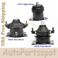 For 03-07 Honda Accord 3.0L Engine Motor Mount 3PCS AT A4526 A4517 A452 G085