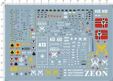 Detail Up HG 1/144 Scale CHAR S ZAKU Ver.2 Gundam Model Kit Water Slide Decal