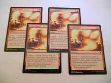 4x MTG Tribal Flames-Fiamme Tribali Magic EDH MM2 Modern Masters ING x4