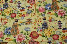 Tissu patchwork Japonaise Motivel 50x110cm beige 100% Coton