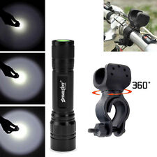 Bike Bicycle Focus 4000LM 3Mode CREE T6 LED Zoomable Flashlight 360°Mount Clip