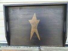 Primitive Stove Cover Noodle Board Hand Crafted Black w/ Single Star