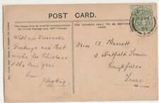 Miss A. Barratt, 3 Hatfield Terrace, Campfields, Truro 1905 Postcard, B395