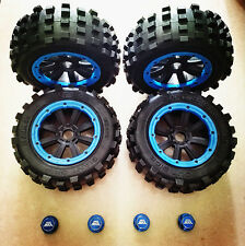 BEST GIANT GRIP MONSTER TIRE WHEEL SET & BEST ADAPTERS MadMax for Traxxas X-MAXX